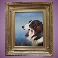VACATION SALE -35%!!!! Spaniel Oil Painting by Colin Graeme Roe c.1858-1910 Antique English