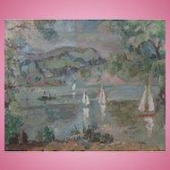 French Lake by Clive Gardiner  Modern British 1891-1960