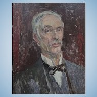Male Portrait possibly a Lecturer at Goldsmith's London  by Clive Gardiner 1891-1960 Goldsmiths' Head
