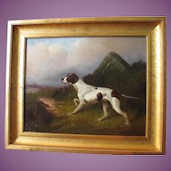 Colin Graeme Roe 1858-1910 Oil Painting of a Pointer Dog Antique English