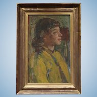 Portrait of a Young Woman  by Clive Gardiner 1891-1960 English Oil Painting Head of Goldsmiths