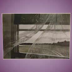 Andrew Wyeth (1917-2009)Rare Collotype  1971 by Triton Press/Brandywine Museum of 'The Wind That Blows in From the Sea'