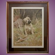 Come On!' ORIGINAL Pastel Portrait of a Terrier Dog Puppy by Arthur Wardle 1864-16 July, 1949