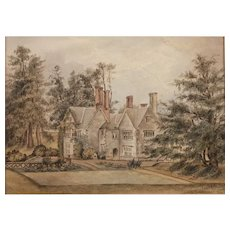 1910 Watercolour Painting of 'Swanage' English Country House by AG Storey ARA  Watercolor