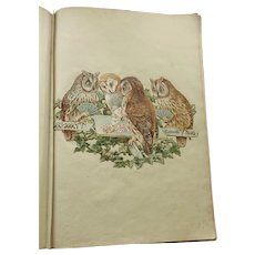 Huge MUSEUM Worthy Antique Scrap Book c. 1900-1910 77 PAGES all Deliciously FULL