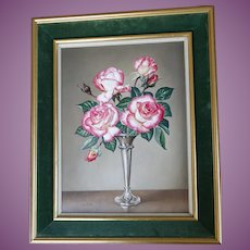 James NOBLE  1919 - 1989 English Rose Variety 'Handel' Framed 1981