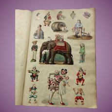 MASSIVE 77 Page MUSEUM Worthy Antique Scrap Book English  c. 1900-1910 Die Cuts