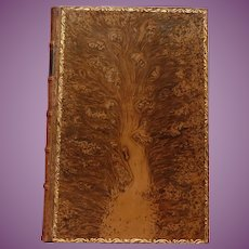 MAGNIFICENT Tree Calf Leather Binding of Thrift by Samuel Smiles London 1875 1st Edition a BEAUTIFUL Binding
