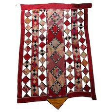 SIX Foot long ... Camel/Horse Bridal Trapping from Central Asia Turkmenistan [Turkmen] Antique  - Wall Hanging - Bedspread - Russian Fabrics Ikat