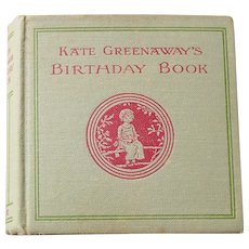 Antique UNUSED Illustrated Kate Greenaway's Birthday Book - Frederick Warne & Co with Dust Jacket