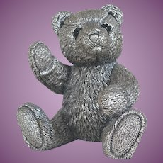 "FOUR inch high 1994 Sterling Silver Bear ""Winston"" by Country Artists over 4 inches High IRRESISTIBLE"