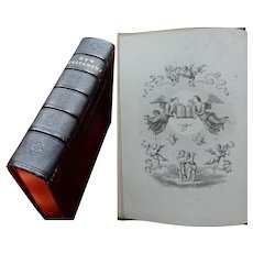 New Testament  1865 with Engravings by Italian Masters Highly Decorated Fazakerley Binding