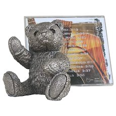 Sterling Silver Teddy Bear WINSTON by Country Artists English 4 inches tall! ORIGINAL BOX