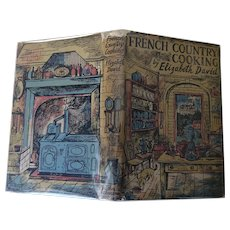 Elizabeth DAVID French Country Cooking 1951 1st Edition First Printing with DUST JACKET Ill John Minton