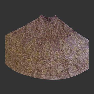 MAGNIFICENT Asian Indian Rajasthani/Pakistani Lehenga Hand Embroidered Zardozi Work Full Length Skirt Weight c. 15 pounds