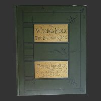 The Witches Frolic & The Bagman's Dog Antique Book 1876 Thomas INGOLDSBY + 8 Photogravure Silhouette Pages by Jane Cook