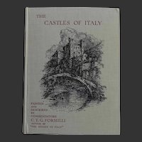 A Beautiful BINDING 'The Castles of Italy' 1933 by CTG Formilli 24 colour watercolours A & C Black