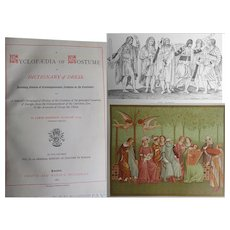 Antique Book 1879 EUROPEAN Costume 53BC - C.1800 FULL of Images 433pp by Planché