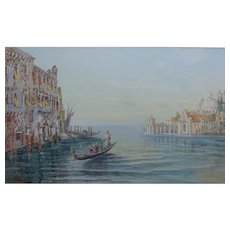 VENICE Italy Antique Painting 1904 by Richard Henry Wright 1857-1930 Watercolour Gouache