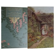 A BEAUTIFUL Binding Antique Book 1905 'The Homes of Tennyson' 20 x watercolours by H Allingham Text A Paterson A&C Black
