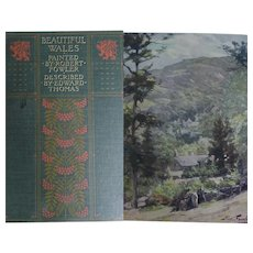 Antique Book 'Wales' 1915 74 watercolours by R Fowler text E. Thomas A & C Black