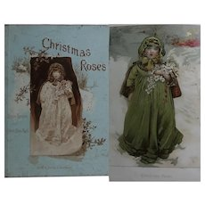 Antique Children's Book 'Christmas Roses' 1886 Pub. Griffith Farran, Litho/Print Ernest Nister by L Lawson & R E Mack