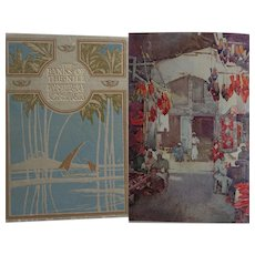 A BEAUTIFUL BINDING Antique Book 'The Banks of the Nile' Egypt 1913 SIXTY gorgeous Watercolours