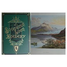 A BEAUTIFUL BINDING - 1882 'Scottish Loch Scenery' MAGNIFICENT 25 x watercolour plates