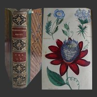 VOL I-II of The 'Floricultural Cabinet & Florists Magazine' 1833-4 27 Hand Painted Illustrations flowers