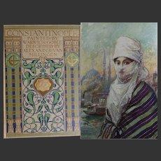 A BEAUTIFUL BINDING 1906 'Constantinople' 63 watercolours Warwick Goble Text van Millingen