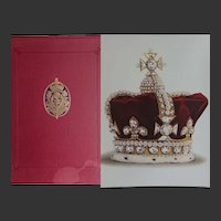 "Antique Book  1919  ""The Crown Jewels of England"" 18 x Colour Plates FOLIO Younghusband Davenport"
