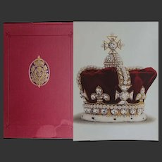 """Antique Book  1919  """"The Crown Jewels of England"""" 18 x Colour Plates FOLIO Younghusband Davenport"""
