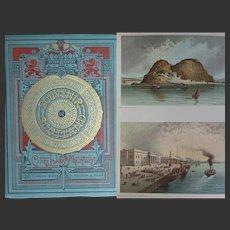 A BEAUTIFUL BINDING 1897 'Souvenir of Scotland' 120 Chromo Views T Nelson & Son