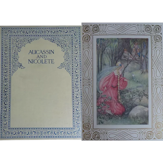 A BEAUTIFUL BINDING 1911  'Aucassin & Nicolete' Trans fm Old French H Child 6 x Colour Plates A Anderson