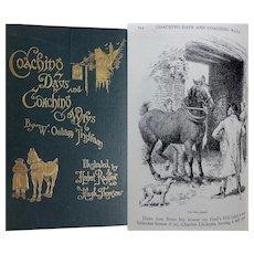 A BEAUTIFUL BINDING 1893 'Coaching Days & Coaching Ways' by Outram Tristram Illust: Hugh Thomson & Herbert Railton