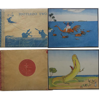 2 x books ~ 'The Tale of Mr Tootleoo' & 'Tootleoo 2' 1925 1927 Nonesuchpress  Bernard & Elinor Darwin