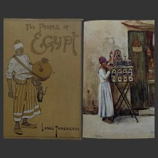 Antique Book 1916 The People of Egypt Painted by L Thackeray A & C Black