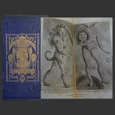 Antique Book 1867  Travels of 'Baron Munchausen' Africa to Gt Britain 22 fullpage CURIOUS engravibgs & 5 woodcuts by Cruikshank