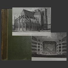 Antique Book 1831 'PARIS [France] & its Environs' - 200 Views by Augustus PUGIN eng. Mr C Heath text Ventouillac 2 vols