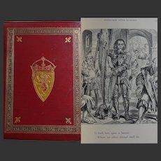 FINE BINDING 1881 'Lays of the Scottish Cavaliers' Aytoun illustrated throughout by JN Paton & Waller H Paton