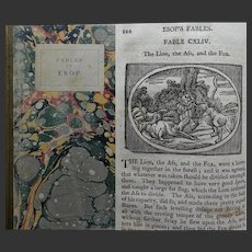 AnTIQUE BOOK 1814 'The Fables of Esop [Aesop]' translated & lavishly illustrated by Samuel Croxall