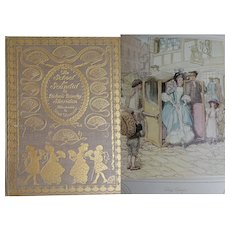 A BEAUTIFUL BINDING 1911 'School for Scandal' by Sheridan illustrated by Hugh Thomson 25 colour plates