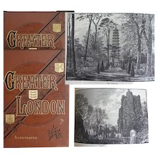 A BEAUTIFUL BINDING 1890s Greater London [The suburbs] 2 vols - over 350 illustrations - History People Places by E Walford