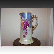 Vintage Tankard pitcher with Grapes