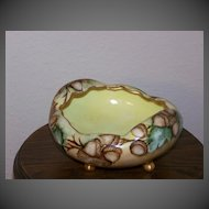 Handpainted Nut Bowl with Acorns