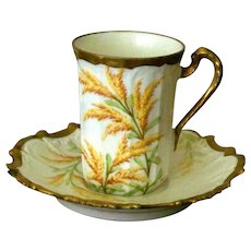 Limoges Demi-tasse cup and saucer