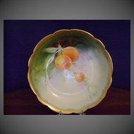 Antique Limoges Porcelain bowl with Oranges