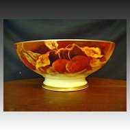 Antique Limoges Punch Bowl with Cherries by Marsey