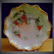 Limoges Handpainted Bowl decorated with Currants