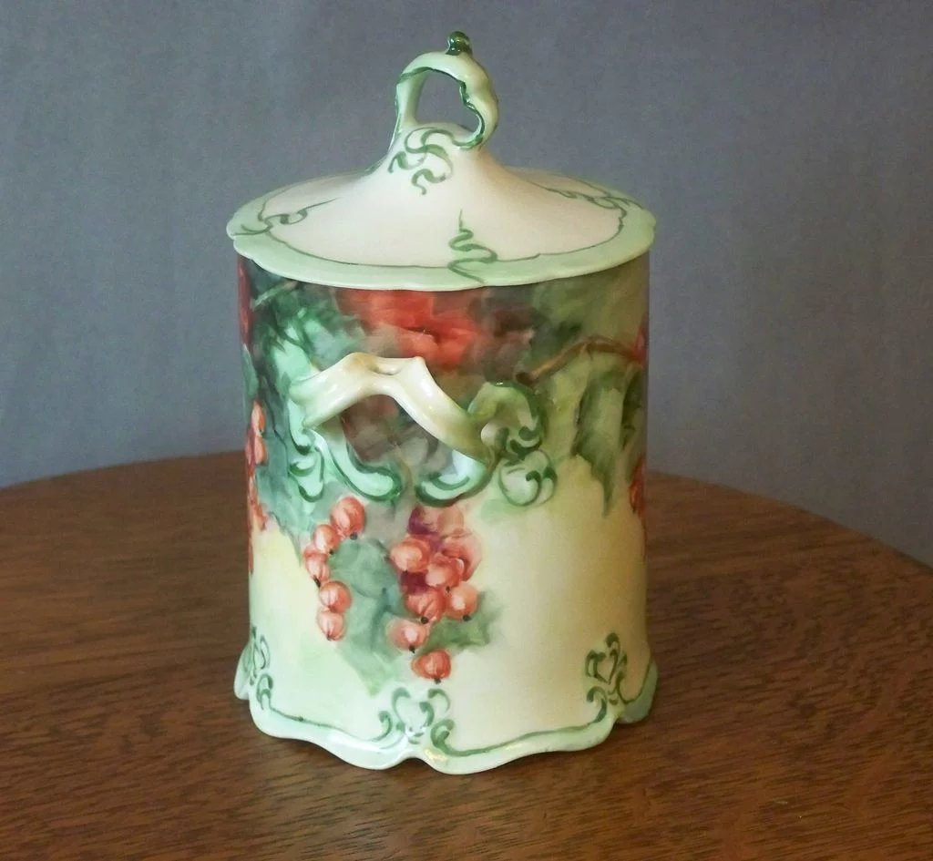 Handpainted Condensed Milk Container with Currants : Southern Classics  Ruby Lane